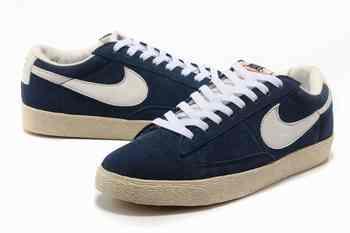 Nike Blazer pour Homme Low Premium Cuir Noir Blanc Bleu Nike Blazer Denim