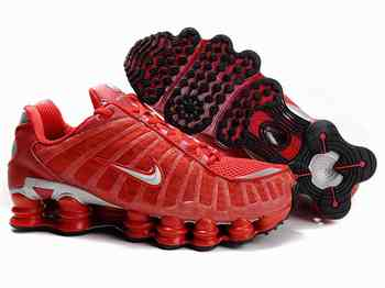 buy popular 916bf 3b7ad Chaussures Nike Shox TL1 Rouge  Argent